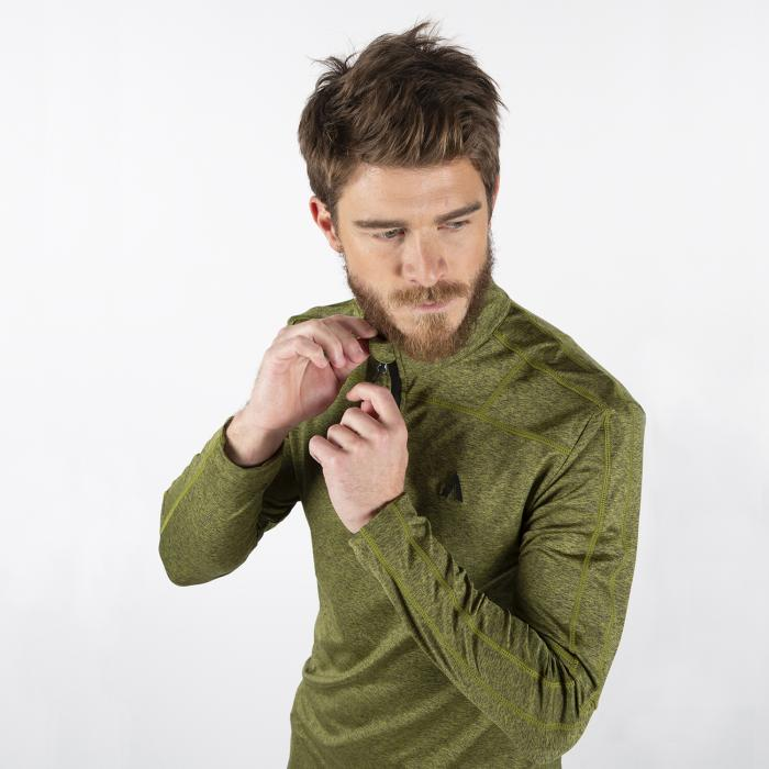 Camiseta Térmica Manga Larga Hombre Verde - Track Gear